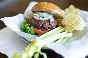 Cedar Planked Buffalo Style Burger