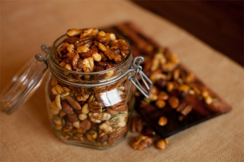 Cherry Planked Spiced Mixed Nuts Recipe