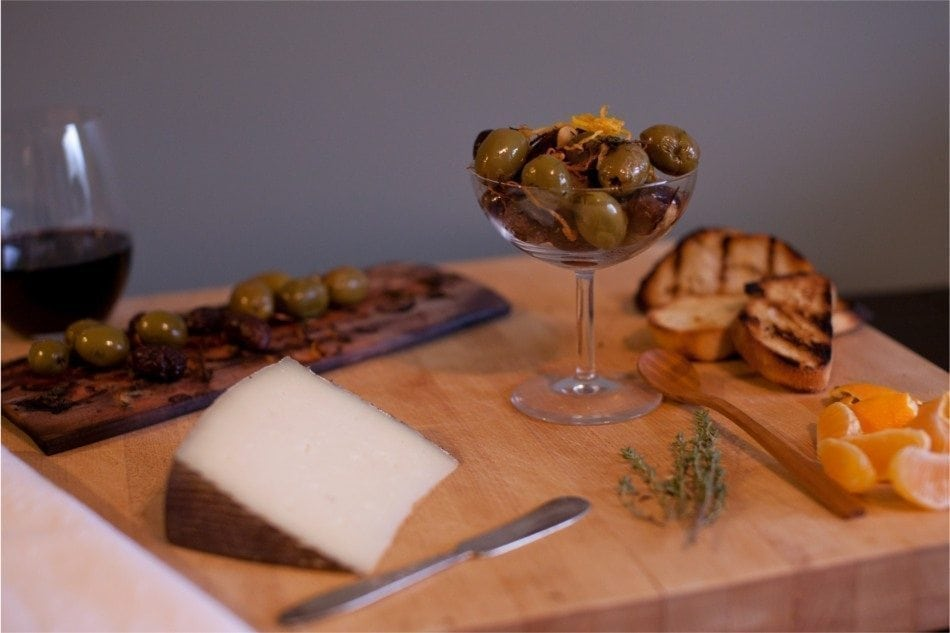 Maple Planked Mixed Olives Recipe
