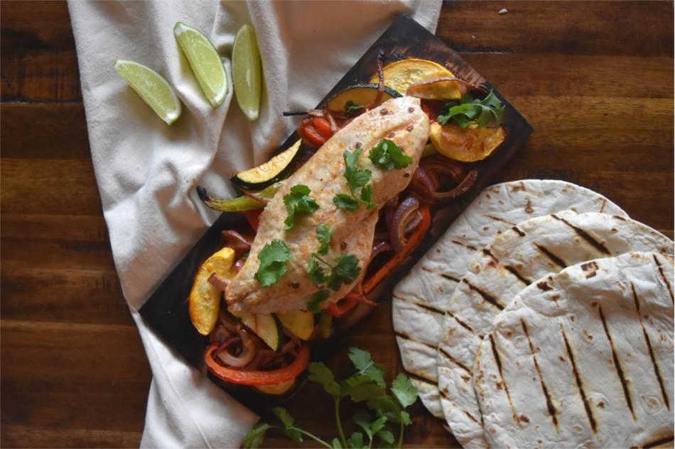 Maple Planked Rockfish Fajitas with Adobo Recipe