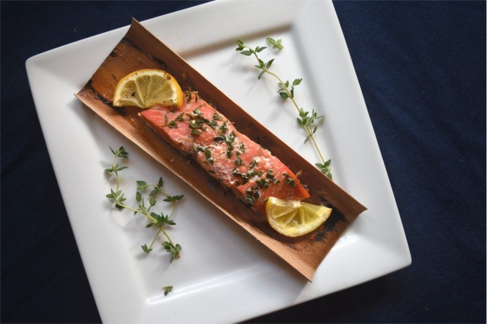 Cedar Wrapped Salmon with Herbs and Lemon Recipe