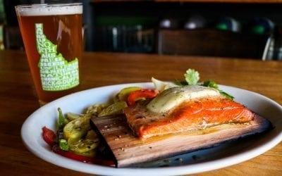 Cedar Planked Salmon at MickDuff's Brewing Company